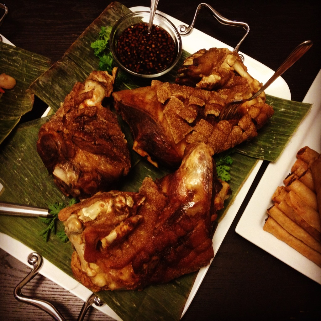 Crispy Pata - braised and fried pork shank and trotters