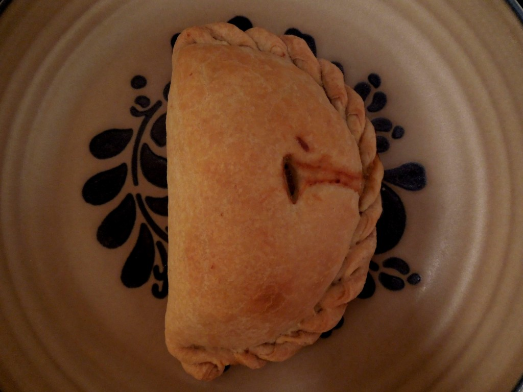 Meat, potato, and rutabaga pasty. Photo by Lucia Austria