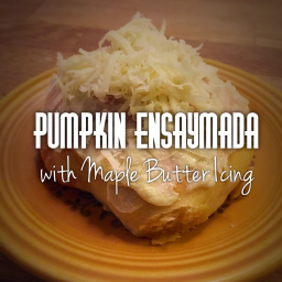 Pumpkin Ensaymada w/Maple Butter Icing